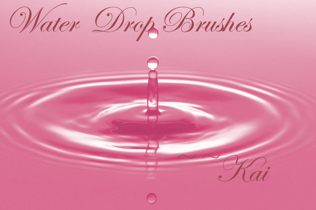 Water Drop Brushes Set 2 by KaiPrincess