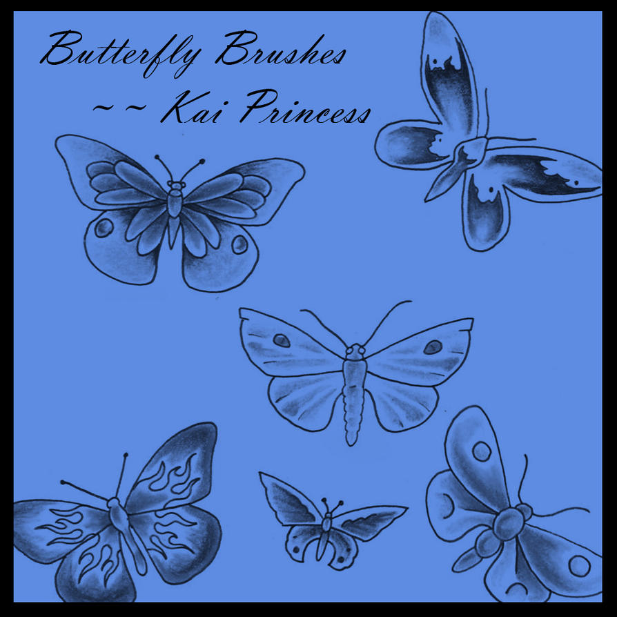 Butterfly Brushes by KaiPrincess