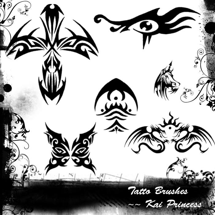 Tattoo Brushes by KaiPrincess
