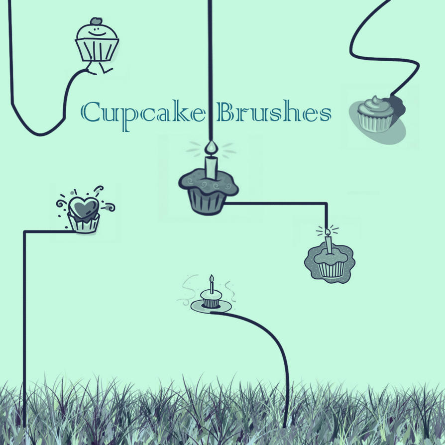 Cupcake Vector Stalk Brushes by KaiPrincess