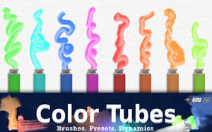 Gimp 2.8 Color Tubeset for Digital Painters by GrindGod