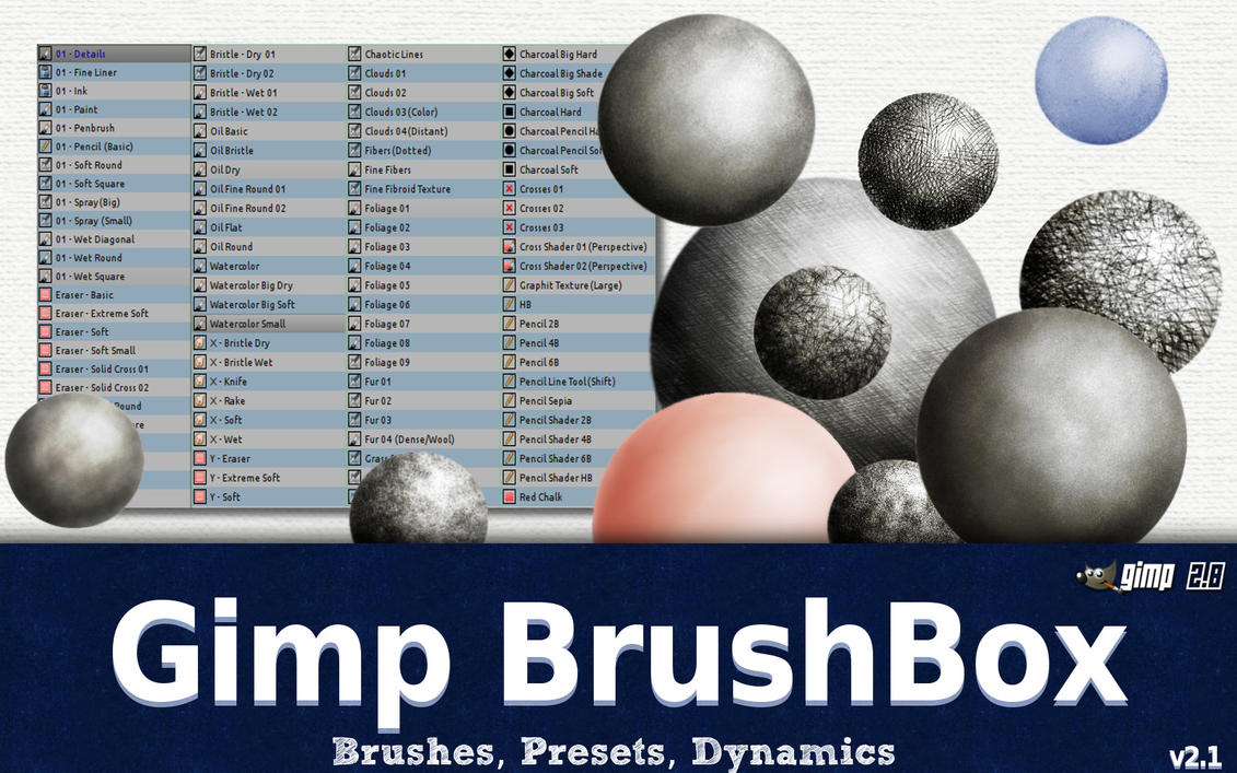 The Gimp BrushBox v2.1 by GrindGod