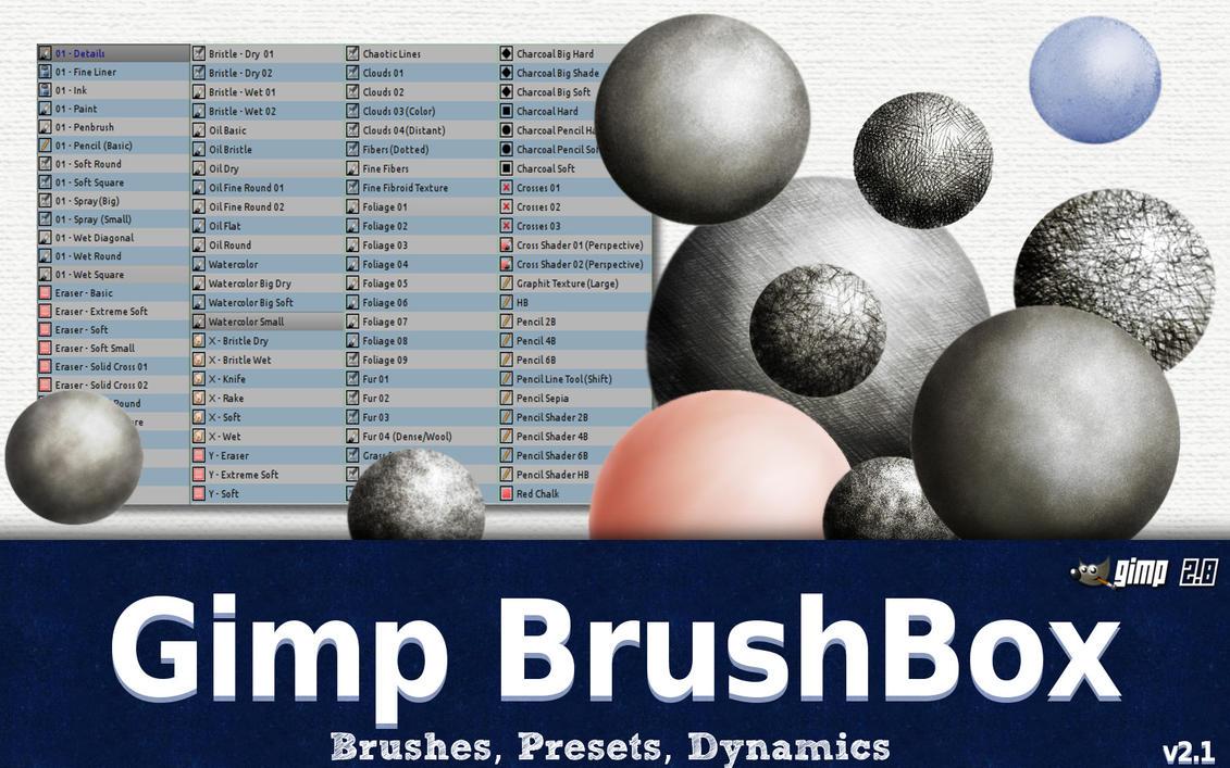 The Gimp BrushBox v2.1 by GrindGod
