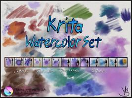 Krita Watercolor Set v1.01 by GrindGod