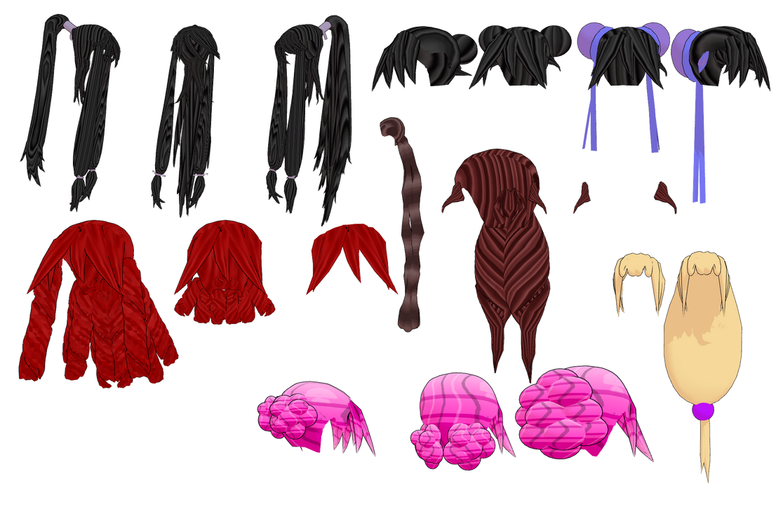 MMD MB Hair Pack dl 2 by mbarnesMMD