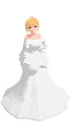 MMD Caroline Joy - Wedding Dress - UTAUloid