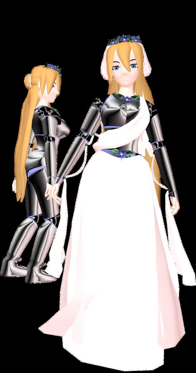 MMD Lady Caroline Joy - Armor - UTAULOID by mbarnesMMD
