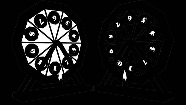 Ten Face Number Wheel