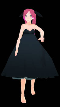 MMD Aika Heion - Black Dress