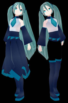 MMD Miku Hatsune - mbarnesmmd 2018 - Vocaloid