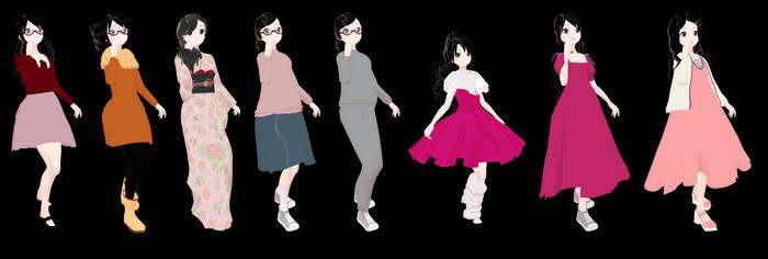 MMD Tsukimi Kurashita - Princess Jellyfish