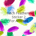 Finch Feathers ArtRage Sticker by cynvision