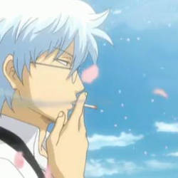 Gintoki Smoking Animation by JadeLune