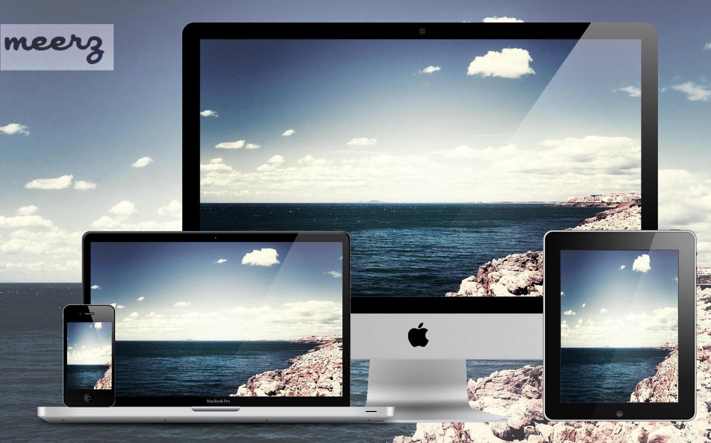 Wallpaper 11B - Rocks on Beach by xmeerzx