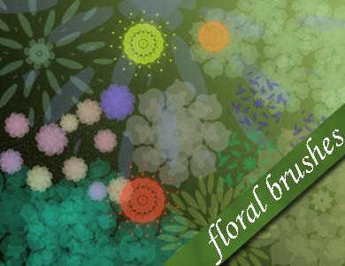 Free Photoshop Floral Brushes by emmaalvarez