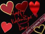 Saint Valentine PNG Hearts