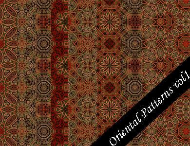 Oriental Pattern Set Vol.1 by emmaalvarez