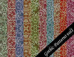 Gothic Seamless Pattern Set 1 by emmaalvarez