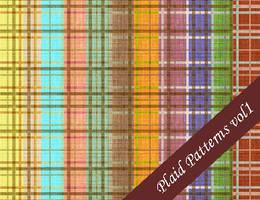 Plaid Seamless Patterns Vol.1 by emmaalvarez