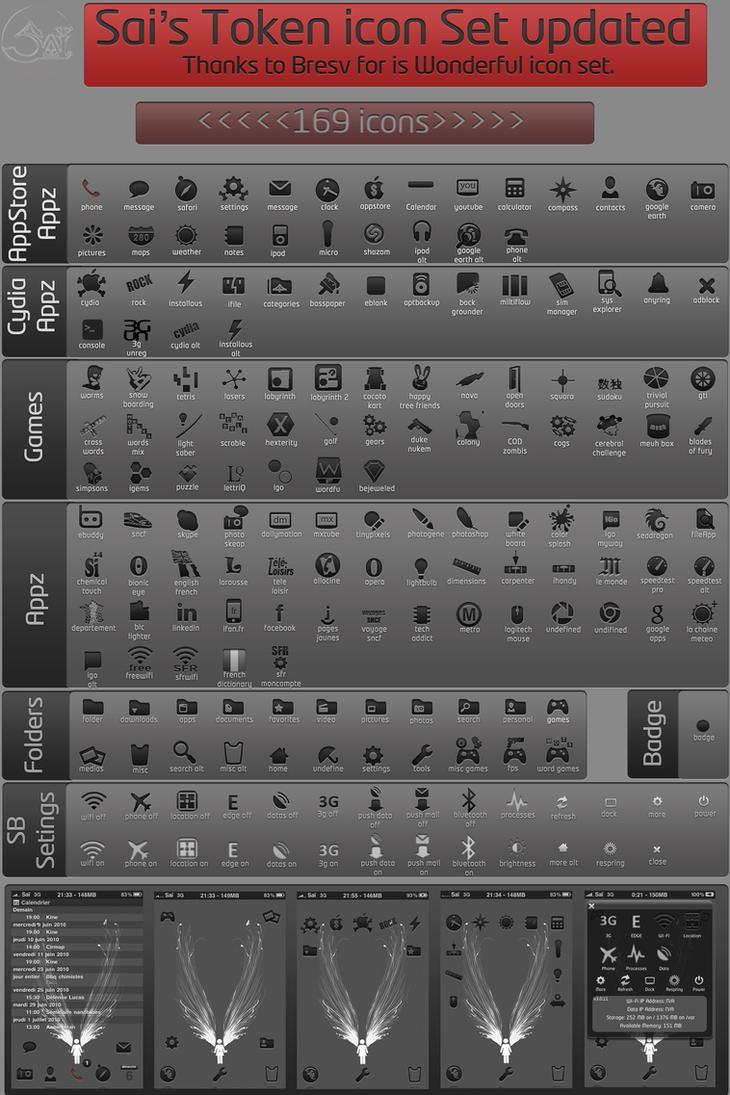 Sai's Token icon set updated by Sensei-Sai