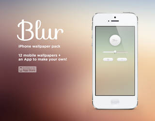 Blur - iPhone Wallpaper Pack + App by Dchen05