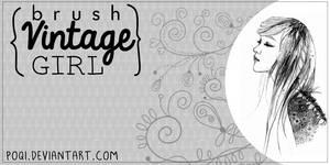 {Brush- Vintage Girl}
