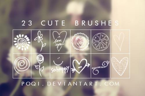 {Cute brushes}