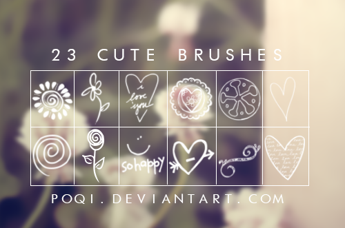 {Cute brushes} by Poqi