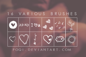 {16 Various Brushes} by Poqi