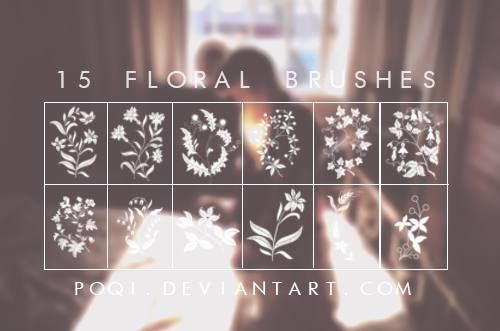 {15 Floral Brushes}