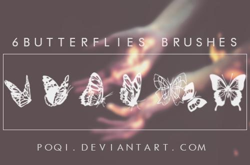 {6 Butterflies Brushes}