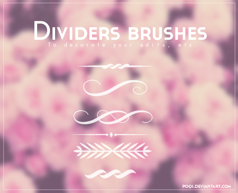 {Dividers brushes}