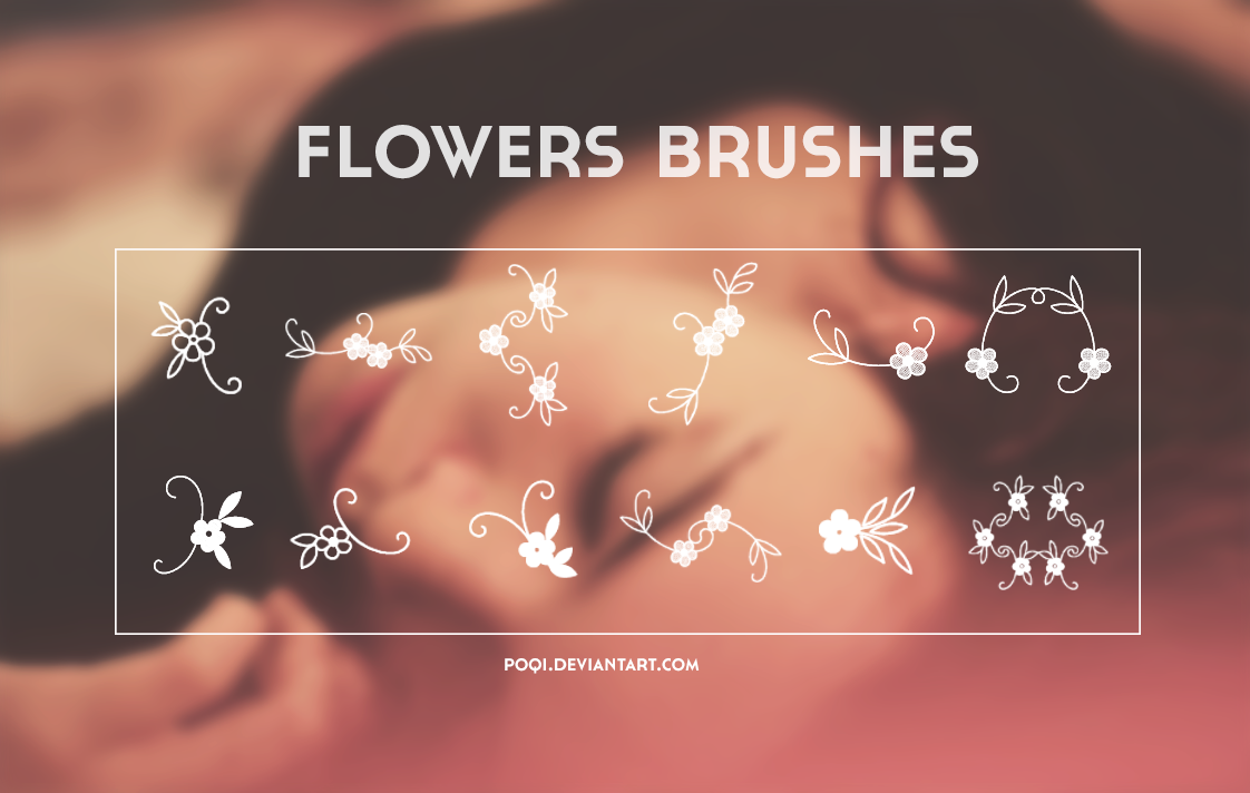 {Flowers Brushes} by Poqi