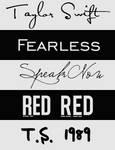 Taylor Swift Fonts