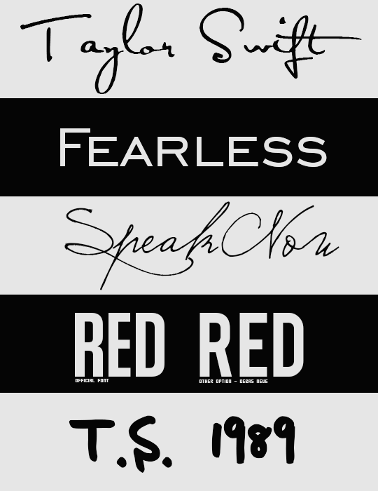 Taylor Swift Fonts by intoxicatedvogue on DeviantArt