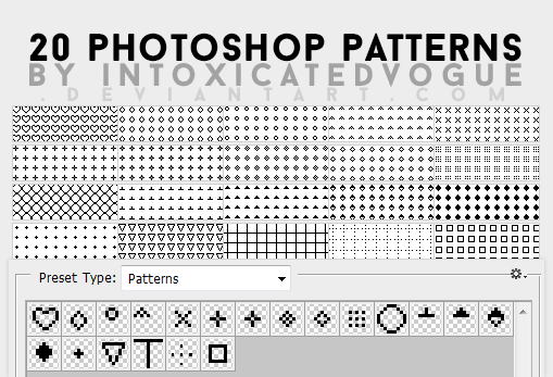 Pattern Pack #2 // 20 Photoshop Patterns by intoxicatedvogue