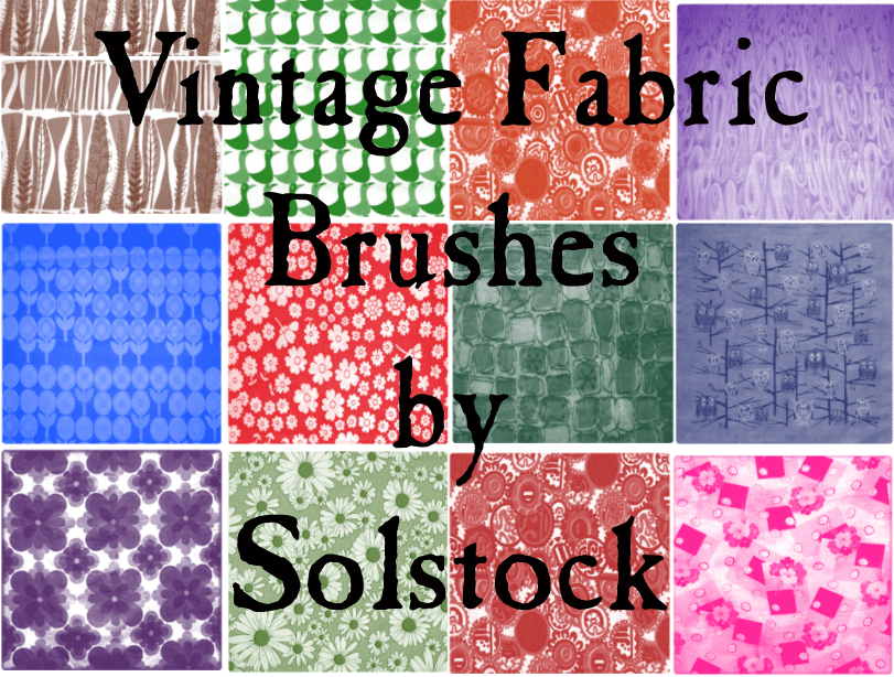 Vintage Fabric Brushes