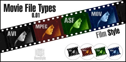 Movie File Types Film Style by PappaGiorggio on DeviantArt