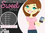 Sweet doll (.PSD/.PNG)