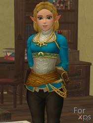 Zelda (BotW Short Hair) for XNALara by AJD-262