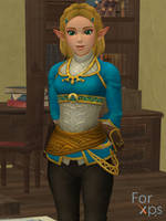 Zelda (BotW Short Hair) for XNALara