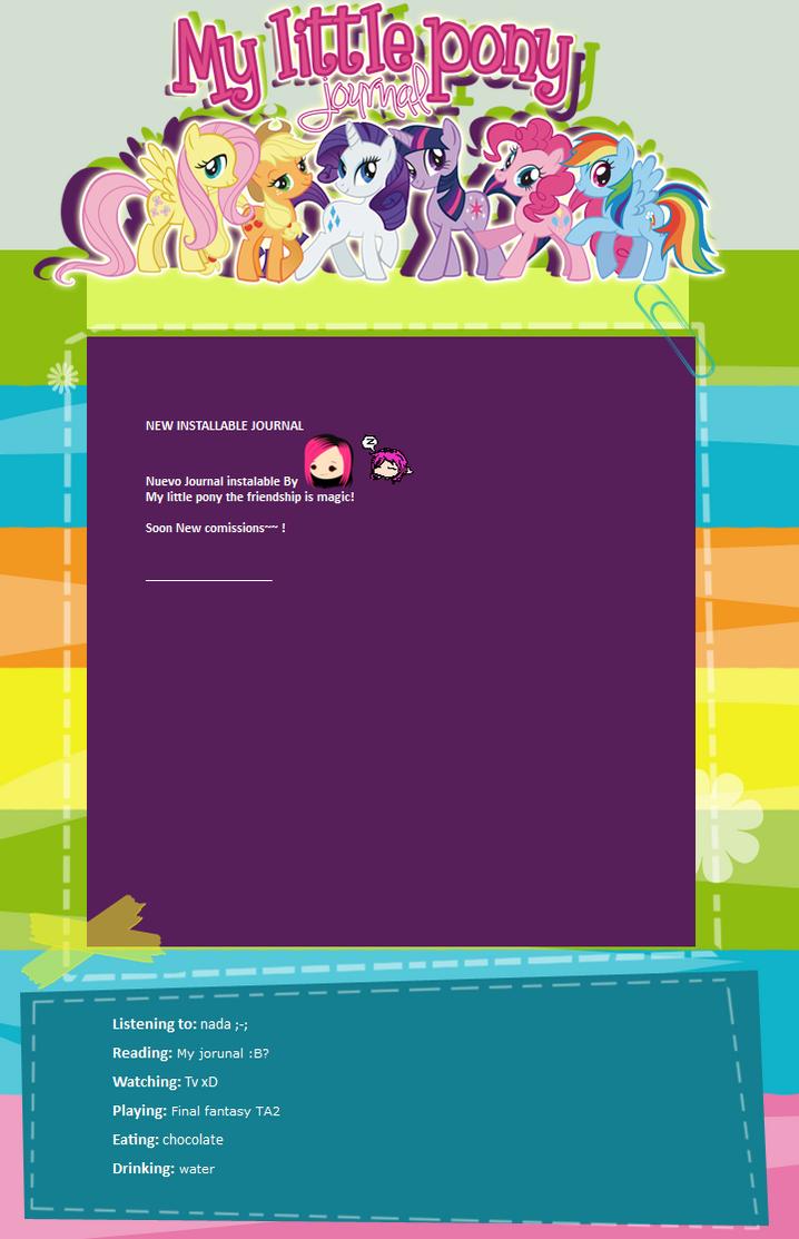 My little pony Journal by eikojonevans