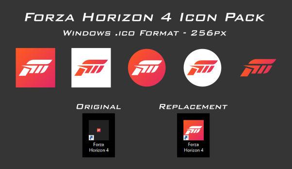 Forza Horizon 4 Icon Pack - Windows 10