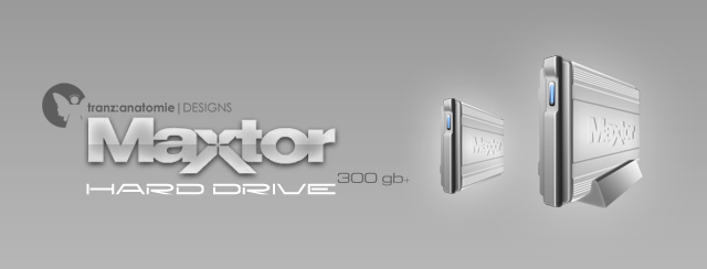 Maxtor External Hard Drive by djnjpendragon