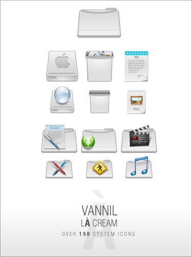 VannillA Cream Icon Set by djnjpendragon