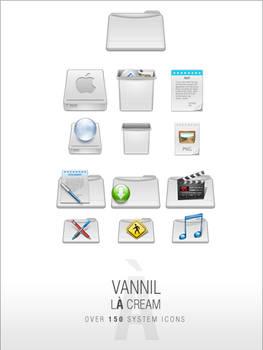 VannillA Cream Icon Set -mac-
