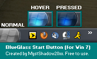 Win7 Start Button - BlueGlass by MystShadow20xx