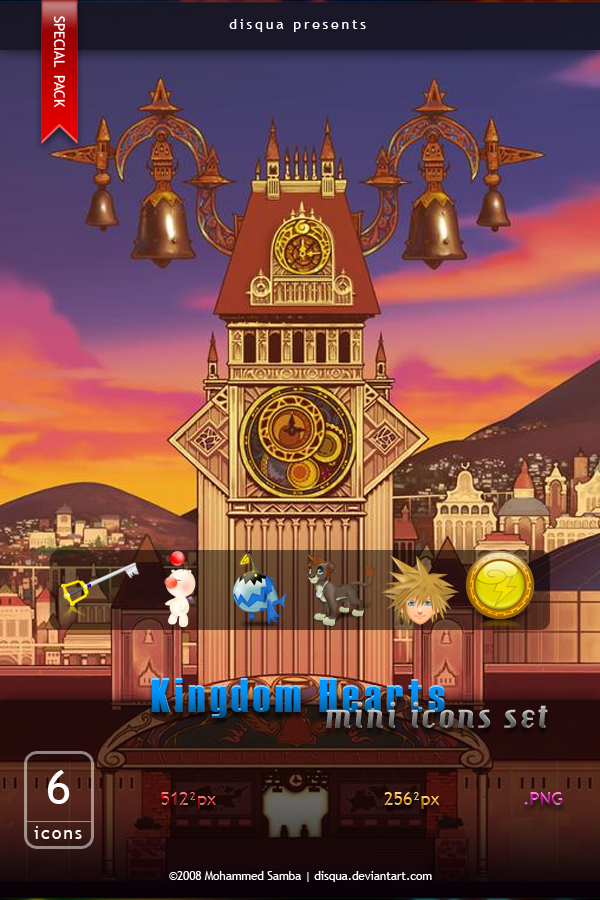 Kingdom Hearts Mini Icons Set by Disqua