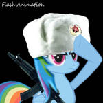 Saluting Russian Rainbow Dash