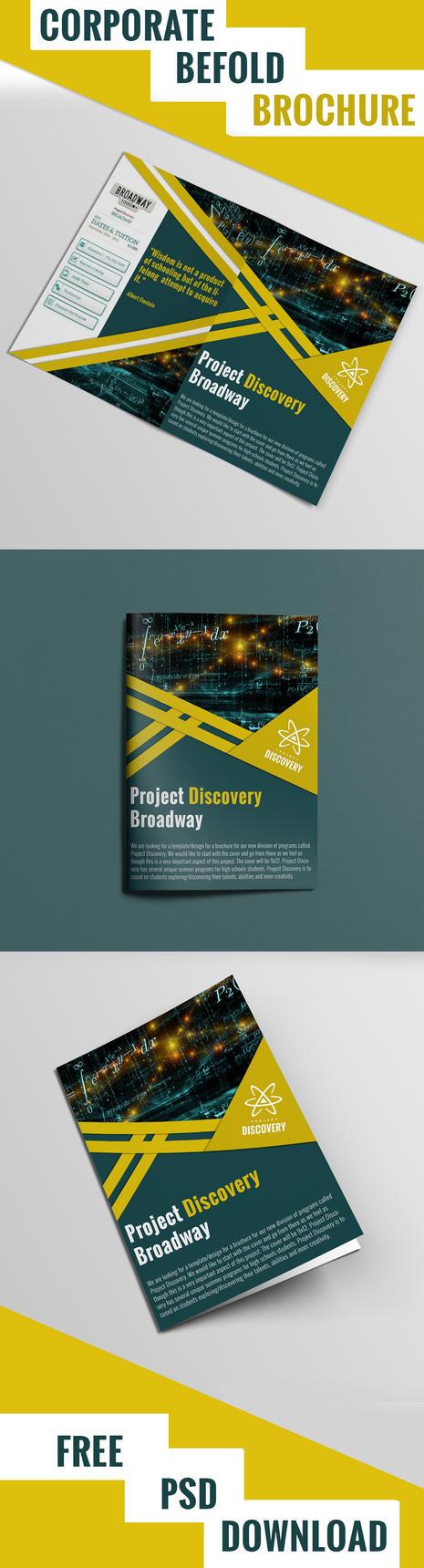Corporate Brochure free psd by sunnygoldeneye